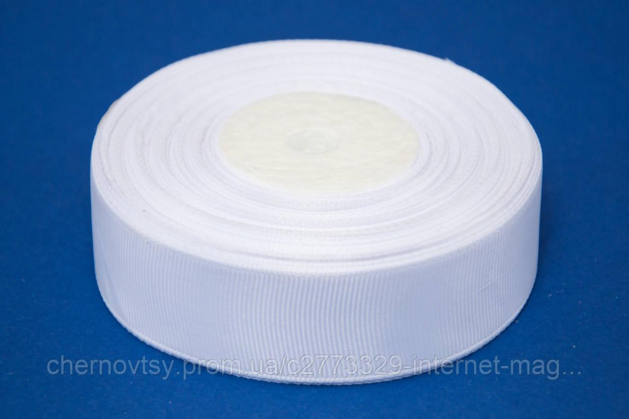 Лента репс 0.9 см, 23 м, № 01 белый