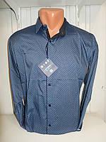 Рубашка мужская Enisse длинный рукав, под шелк, стрейч, заклёпки узор №5  003\ купить рубашку
