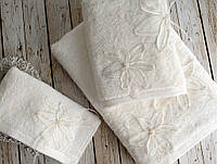 Набор полотенец Irya Wedding - Lily молочное 30*50 (3 шт)