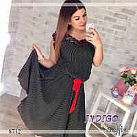 """Платье женское больших размеров из штапеля """"Сирень"""""""