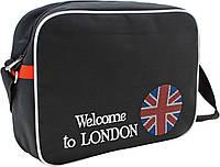 """Сумка молодежная 551848 """"England Flag"""", 38*10*28,5см. ТМ """"1 Вересня"""""""