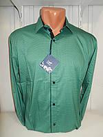 Рубашка мужская Enisse длинный рукав, под шелк, стрейч, заклёпки, разный узор 005\ купить рубашку