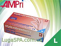 Перчатки нитриловые розовые, AMPri