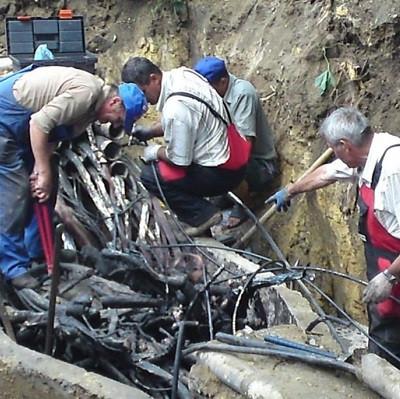 Поиск места повреждения кабеля