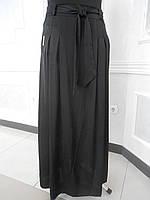 Юбка женская длинная черная большого размера