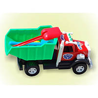 Машинка Грузовик Бамсик 008, с лопаткой, грабли и паски