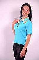 Футболка рубашка бирюзовая трикотажная  арт 121200.