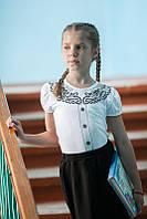 Детская модная блуза для девочек хлопок р.36