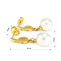 Сережки-гвоздики с жемчугом Арт. ER058SL, фото 3