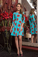 Платье 797-1 бирюза Маки