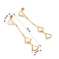 Сережки-гвоздики со светлыми вставками из ракушки Арт. ER042SL, фото 4