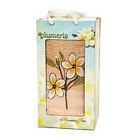 Полотенце в подарочной коробке - Gulcan Plumeria 1*50х90 бежевый