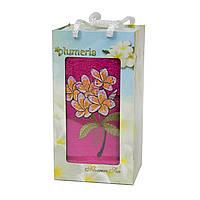 Полотенце в подарочной коробке - Gulcan Plumeria 1*50х90 розовый