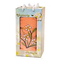 Полотенце в подарочной коробке - Gulcan Plumeria 1*50х90 салмон
