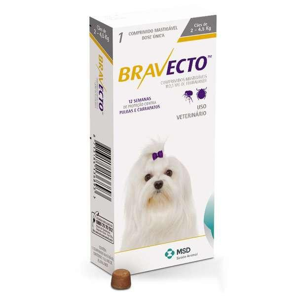 Бравекто от блох и клещей для собак весом 2 -4,5 кг