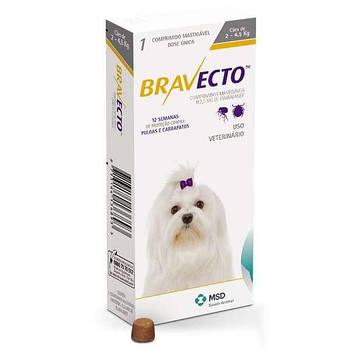 Жевательная таблетка BRAVECTO от блох и клещей для собак 2 -4,5 кг, (112,5 мг)