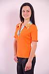 Футболка рубашка оранжевая трикотажная  арт 121199, фото 4