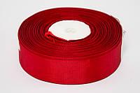 Лента репс 0.9 см, 23 м, № 33 ярко бордовый