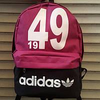 Рюкзак молодежный Adidas 1949, Адидас черный с бордовым