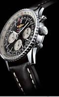 Мужские часы BREITLING кварцевые черный циферблат металлический корпус черный ремешок