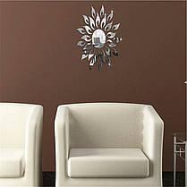 """Наклейка на стену, пластиковые наклейки, украшения стены наклейки """"солнце зеркальное 25шт набор"""", фото 3"""