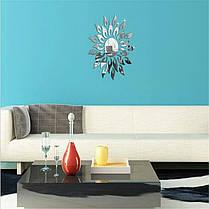 """Наклейка на стену, пластиковые наклейки, украшения стены наклейки """"солнце зеркальное 25шт набор"""", фото 2"""