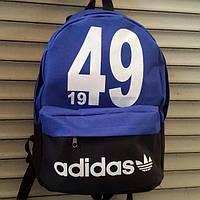 Рюкзак молодежный Adidas 1949, Адидас черный с синим