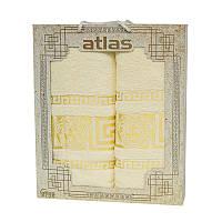 Подарочный набор полотенец в коробке - Atlas Medusa 50х90+70х140 кремовый
