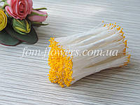 Тайские тычинки желтые супер мелкие на белой нитке