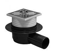 Трап для душа горизонтальный с клапаном ( сухой ход) Plastbrno SI50G02
