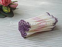 Тайские тычинки лиловые, супермелкие на белой нитке