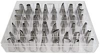 Насадки для кондитерских мешков 48 шт em-0004 нержавеющая сталь (Empire Эмпаир Емпаєр)