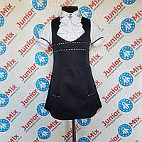 Школьный детский сарафан для девочек синего цвета.ПОЛЬША