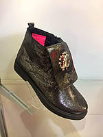Модные стильные  женские ботинки Roberto Cavalli , натуральная кожа