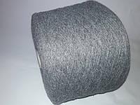 Пряжа  PEPITA FILITALY, 75% шерсть, 25%-акрил, серый цвет, Италия.