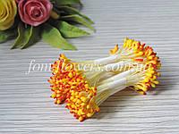 Тайские тычинки каплевидные желтые с красным кончиком