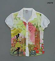 Шифоновая блузка для девочки. 6-7;  7-8;  8-9 лет