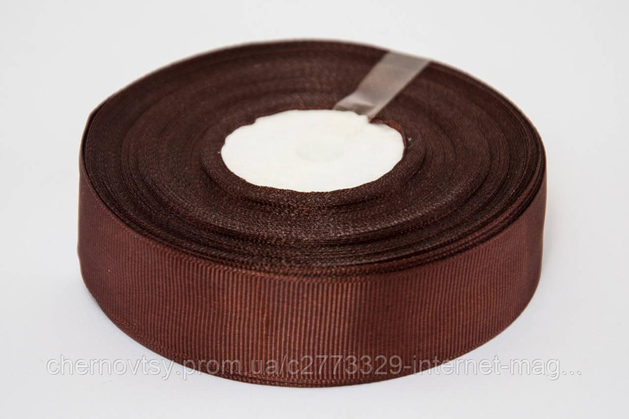 Лента репс 0.9 см, 23 м, № 209 коричневый