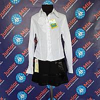 Школьная детская белая блузка х/б  для девочек    МВ. ПОЛЬША