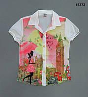 Шифоновая блузка для девочки. 6-7;  8-9 лет