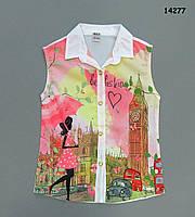 Шифоновая блузка для девочки. 7-8 лет