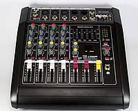 Профессиональный аудио микшерный пульт Mixer MX-5200D 5ch 5 ти канальный