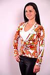 Блуза двойка с майкой терракот трикотажная Бл  553479 , фото 2