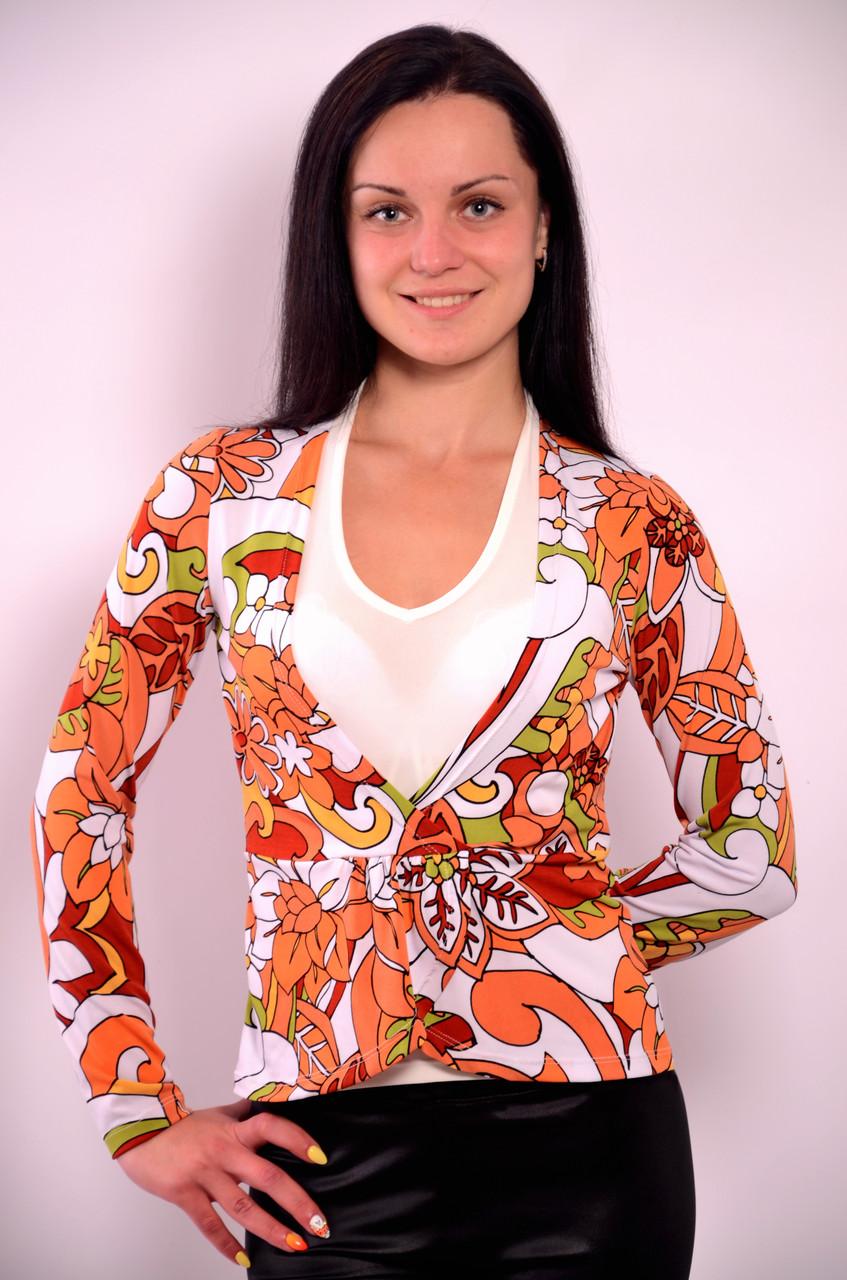 Блуза двойка с майкой терракот трикотажная Бл  553479