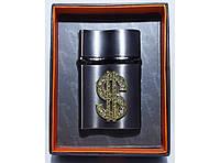 Зажигалка в подарочной упаковке настольная с эмблемой доллара K7-43