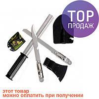 Набор походный 4 в 1. Лопата,открывашка,пила, нож / туристические инструменты