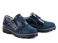 Закрытые осенние туфли для девочек оптом от фирмы Башили XQB8702-8 (8пар, 31-36)