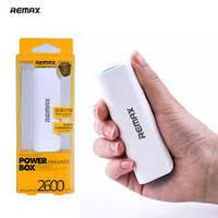 Внешний аккумулятор Remax Power Bank 2600mAh, универсальный мобильный аккумулятор,