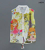 Шифоновая блузка для девочки. 6-7 лет, фото 1