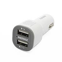 Автомобильное зарядное устройство Remax, White, 2xUSB, 1A/2.1A (LSC9188)